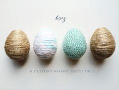 BSaz Creates | Simple DIY String Wrapped Easter Egg Tutorial