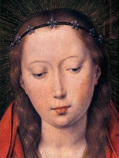 HANS MEMLING / ( 1487)  Diptiek van Maarten van Nieuwenhove / Fragment