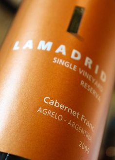 Lamadrid Cabernet Franc, Agrelo, Argentina ~ Don't let the price fool you, The Wine Advocate gave the Lamadrid '09 Cabernet Franc 91 out of 100 points! $17