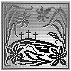 Printing Page for Crosses With Lilies Chart For Filet or Cross Stitch