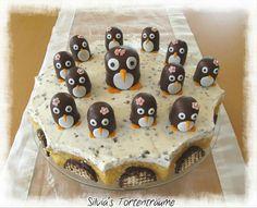 Mohrenkopftorte mit Pinguin Dickmanns
