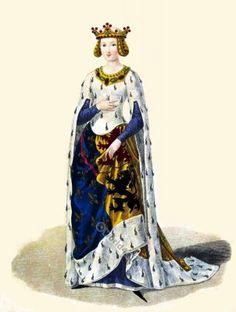 Marie de Hainaut. 14th century clothing
