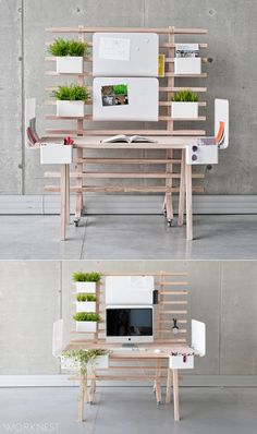 Fabulous Modern Desk Ideas for Functional And Enjoyable Office - DIY Design Mid Century Metal Minimalist Office Industrial Chair Lamp Setup Ideas Wood Bedroom Accessories White Decor Glass Small Rustic Computer With Storage Black Shelf Danish Layout Works Home Office Desks, Office Furniture, Furniture Design, Office Table, Bureau Design, Design Desk, Office Interior Design, Office Interiors, Office Designs