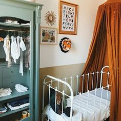 babykamer hemeltje Room Tour, Baby Room, Child Room, Wardrobe Rack, Playroom, Cribs, Children, House, Vintage