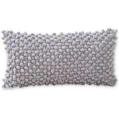 "Victoria Classics Popcorn 9"" x 18"" Decorative Pillow found on Polyvore featuring home, home decor, throw pillows, grey, grey accent pillows, grey throw pillows, grey home decor, whimsical home decor and gray accent pillows"