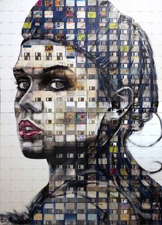 Can someone buy me this beautiful Nick Gentry piece of art?!?! Fantastic Art Made of Floppy Disks