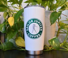 Sailor Jupiter Coffee Sailor Scout Sailor Moon Travel Stainless Mug by OhMyGeekBoutique on Etsy