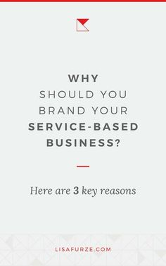 3 big reasons why you would want to focus on branding your service-based business and why it's worth growing your brand. Personal Branding, Branding Your Business, Creative Business, Business Tips, Online Business, Business Entrepreneur, Business Marketing, Online Marketing, Digital Marketing