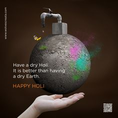 Have a dry holi it is better than having a dry earth happy holi ! wolvescreata brandingagency creativeagency happy holi colorfestival fun joy poster designed for baldota kumkum with the holi festival of colors theme Happy Holi Quotes, Happy Holi Images, Happy Holi Wishes, Creative Poster Design, Creative Posters, Graphic Design Posters, Brain Graphic, Holi Poster, Holi Festival Of Colours