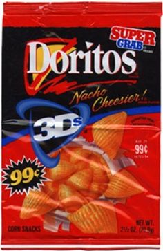 I forgot about these!! 3D Doritos - Food of the 90's