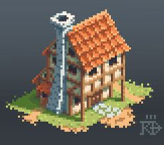 Isometric medieval / fantasy pixel house by RGBfumes on DeviantArt