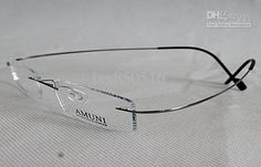 undefined Titanium Eyeglass Frames, Rimless Frames, Eyeglasses, Personalized Items, Bracelets, Silver, Jewelry, Faces, Eye Glasses