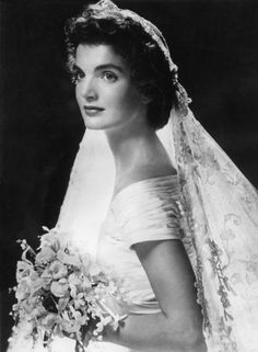 Jacqueline Kennedy on her wedding day; February 14, 2012, 50th anniversary of Jacqueline Kennedy opening up the White House to the public through a television tour.