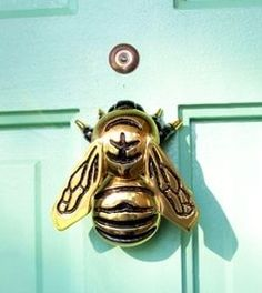 A Different One for Each Entry! Bee door knocker