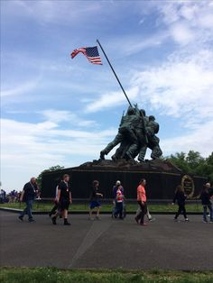 The Iwo Jima Memorial. Iwo Jima is considered one of the bloodiest battles of WW2.