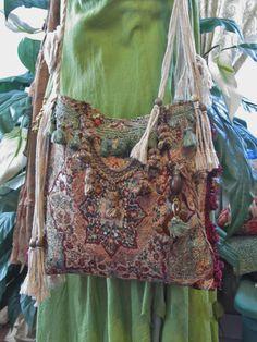 Gitana Bohemia alfombra bolsa tonos tierra única por NanasSunshine