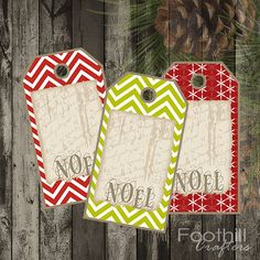 FoothillCrafters on Wanelo #foothillcrafters #wanelo #christmastags #noel #chevronpattern #holidaypatterns #gift_tags #diytags