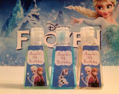 disney frozen party games -make own labels?