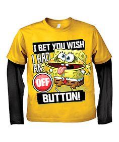 Love this SpongeBob 'Off Button' Layered Tee - Boys on #zulily! #zulilyfinds