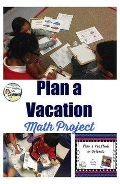 This fun hands on math project will get your kids being creative. Have your or grade students plan a vacation to Orlando. Check out this fun freebie. This fun hands on m Math For Kids, Fun Math, Math Games, Math Activities, Math Math, Steam Activities, Kindergarten Math, Multiplication, Fractions