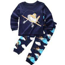 2016 Christmas Infants baby clothing boys tracksuits cartoon shirt+ pants 2pcs kids boy clothes Children clothing set(China (Mainland))
