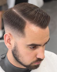 Side part Hairstyle for Receding Hairline