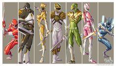 Power Rangers first Generation by Fpeniche.deviantart.com on @deviantART