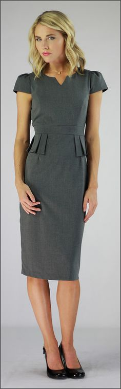 Audrey - Peplum Dress *CLEARANCE* [MDF2483] - $35.99 : Mikarose Boutique, Reinventing Modesty