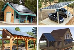 Different options for solar installations