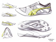 freehand sketches / footwear design / performance on Behance