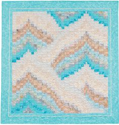 """Glacier Bay"" from the book More Twist-and-Turn Bargello Quilts by Eileen Wright"