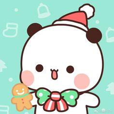 Cute Cartoon Pictures, Cute Love Pictures, Cute Images, Cute Panda Wallpaper, Cute Patterns Wallpaper, Pastel Wallpaper, Chibi Cat, Cute Chibi, Panda Wallpapers