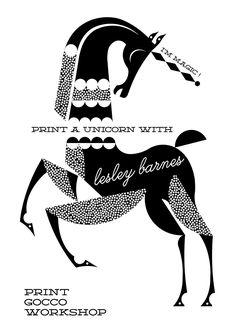 Illustrationart | Illustration | Unicorn | Poster |  Black and White |