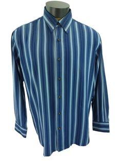 Tommy Bahama Straight Away Stripe Yankee Blue Silk Camp Shirt New Mens