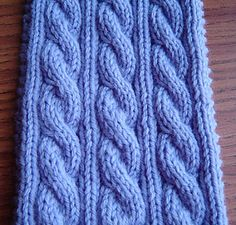 Free Pattern: Irish Hiking Scarf by Adrian Bizilia. This is a great beginner cabling pattern.