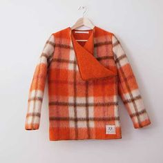 Wintervachtjas size S -- recycled blanket jackets