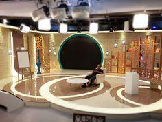 Dini Temalı Program Dekoru - Religious Themed TV Set on Behance Tv Set Design, Stage Set Design, Tv Set Up, Cinematic Lighting, Virtual Studio, Studio Setup, Studio Design, Studio Interior, Interior Design
