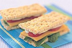 Mini Cracker Sandwiches recipe-kraft singles quick and easy