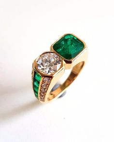 Vintage c1970 ILLARIO Bulgari Bvlgari Moi et Toi Colombian Emerald Diamond Ring | Jewelry & Watches, Vintage & Antique Jewelry, Fine | eBay!