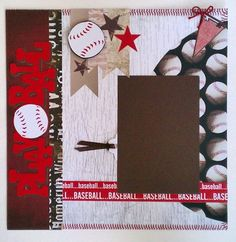 sports layouts for scrapbooking | ... * College * Little League* premade scrapbook layout Ohioscrapper