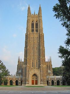 Duke University Chapel, Durham, NC - My parents were married here! And a year later I was born at Duke Hospital. Central University, University University, Durham County, North Carolina Homes, Cool Countries, Place Of Worship, Oh The Places You'll Go, Basketball, Mosques