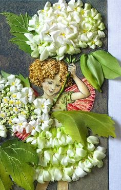 From Moscow – a Flower Fairy for you Silk Ribbon Embroidery, Beaded Embroidery, Embroidery Stitches, Embroidery Patterns, Ribbon Art, Ribbon Crafts, Silk Flowers, Fabric Flowers, Kobold