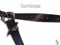 Authentic Gianni Versace Waist Black Belt _ Size: Small #GianniVersace Gianni Versace, Black Belt, Detail, Leather, Stuff To Buy, Accessories, Beautiful, Vintage, Women