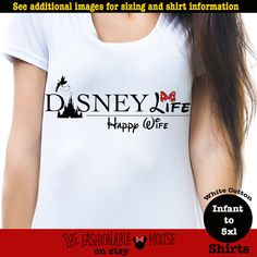 Hey, I found this really awesome Etsy listing at https://www.etsy.com/listing/453999492/disney-life-happy-wife-shirt-disney-life