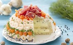 Torta sandwich Appetizer Sandwiches, Cold Sandwiches, Party Sandwiches, No Cook Appetizers, Finger Food Appetizers, Antipasto, Sandwich Torte, Sandwich Ideas, Tapas