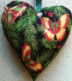 Christmas-Fabric-Butterfly-Fabric-Lavender-Bag-Christmas-Ornament-Handmade