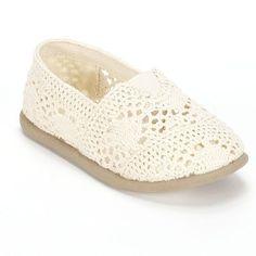 Jumping Beans® Crochet Slip-On Shoes - Toddler Girls