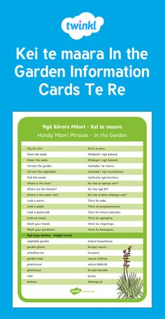 Handy vocab for in the garden. Science Resources, School Resources, Preschool Activities, Teaching Resources, Waitangi Day, Maori Words, Maori Designs, Shape Puzzles, Maori Art