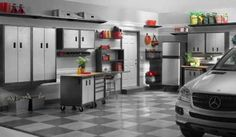 Amazing garage storage system for well-ordered garage space - http://bcanes.com/amazing-garage-storage-system-for-well-ordered-garage-space/