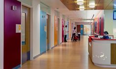Randall Children's Hospital, Seattle. Environmental graphics by ZGF Architects LLP; signage and wayfinding by Mayer/Reed